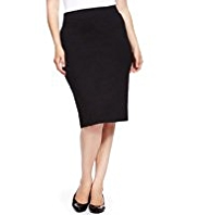 Plus Knee Length Pencil Skirt