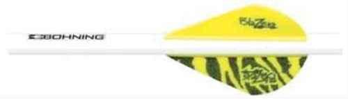 Bohning Tiger Blazer Quickfletch (6-Pack), Yellow