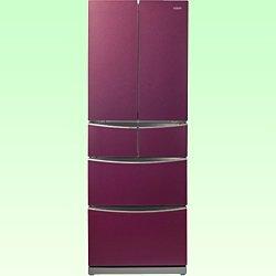 アクア 400L 6ドア冷蔵庫(ルビーレッド)AQUA AQR-FG40B-R