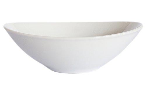 [(Set of 6) Amatahouse Elegant Oval Soy Sauce Dish Sushi Wasabi Plates Soy Sauce Dipping Bowls Royal Porcelain Classic White 3-3/4 inches] (Sushi And Kikkoman Costume)