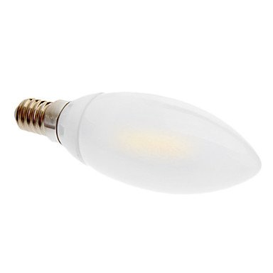 M.M E14 2W 3000 Warm White Light Led Frosted Candle Bulb (230V)