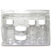 Airline Empty Bottle Travel Pack Set ~ Meets T.S.A. Airline Regulations