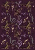 "Joy Carpets Kid Essentials Music & Special Needs Virtuoso Rug, Plum, 7'8"" x 10'9"""