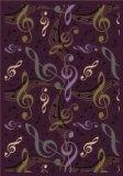 "Joy Carpets Kid Essentials Music & Special Needs Virtuoso Rug, Plum, 7'8"" x 10'9"""