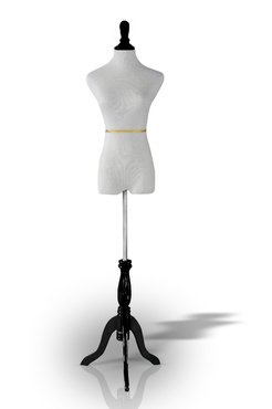 "35""chest 26""waist 34""hips White Female Mannequin Dress & Slacks Form + Black Tripod Base (M*) Made By OM®"