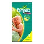 Pampers Baby Dry Diapers, Size 1, 50 Count (Pack of 2)