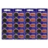 Sony CR2016 3 Volt Lithium Manganese Dioxide Batteries, Genuine Sony Blister Packaging (20 Pieces)