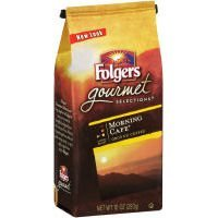 Folgers, Gourmet, Morning Cafe Ground Coffee, 12oz Bag (Pack of 6)