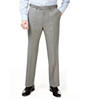 Big & Tall Superlite Active Waistband Flat Front Trousers with Wool