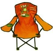 Kids Folding Camp Chair, 3-pc Set in 2 Colors (Frog Leaper) (Cup Holder)