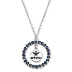 Dallas Cowboys Necklace W/ Blue Crystal Wreath Size: 18 at Amazon.com