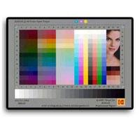 Kodak IT8 5x7 Reflective Target for Calibrating Scanners and Other Digital Color Devices.