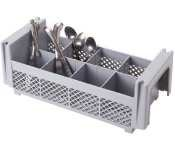 Cambro 8Fbnh434151 Camrack Plastic 8-Compartment Flatware Basket Without Handle, 7-1/4-Inch, Soft Gray