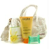 Decleor Aroma Dynamic Natural Beauty Collection: Toning Gel + Body Serum + Bath Pebble + Bag - 3pcs+1bag