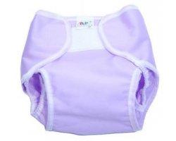 Imagen 1 de PoPoLiNi PopoWrap - Cobertor de pañal (talla L, 9 - 15 kg), color morado