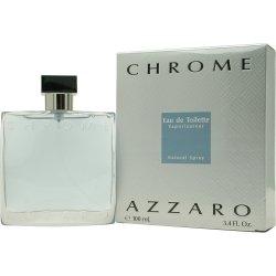 Azzaro Men's Chrome Eau de Toilette Spray, 3.4 Ounce