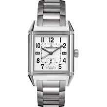 Jaeger LeCoultre Reverso Squadra Silver Dial Stainless Steel Mens Watch Q7008120