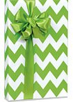 APPLE GREEN & WHITE CHEVRON STRIPE Gift Wrap Wrapping Paper - 16ft Roll