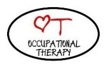 "Occupational therapy - wall decal - selected color: Dark Pink - Want different color ? Choose from 24 colors in ""Color Name"" dropbox below"