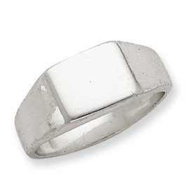 Sterling Silver Signet Ring - Size 8 - JewelryWeb