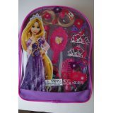 Disney Princess Tangled Hair Care Backpack -Mini Tiara, Clip-in Hair Extensions, More - 1