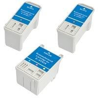 Amsahr 0T017 Remanufactured Replacement Epson Ink Cartridges for Printers/Faxes with 2 Black and 1 Color Cartridges Ink