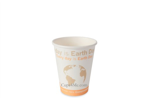8Oz. Compostable Pla Hot Paper Cup/1000 Ct.
