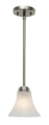 Golden Lighting 7158-M1L PW Accurian PW Mini Pendant, Pewter Finish