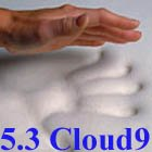 Hot Sale 5.3 Cloud9 Full / Double 4 Inch 100% Visco Elastic Memory Foam Mattress Topper