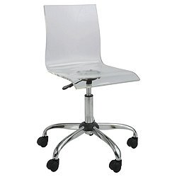 lotus acrylic clear home office chair swivel seat