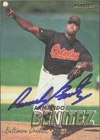 Armando Benitez Baltimore Orioles 1997 Fleer Autographed Hand Signed Trading Card. by Hall of Fame Memorabilia