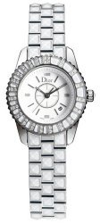 Christian Dior Women's CD113112M002 Christal Diamond White Dial Watch