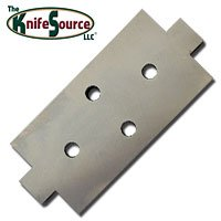 "Knife Source 11-1/2"" x 5"" x 1"" Bed Knife Anvil for Vermeer 935 Chipper"