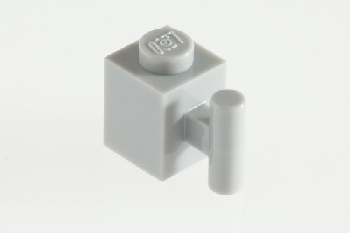 200x Lego Medium Stone Grey (Light Grey) 1x1 Bricks with Handle Super Pack