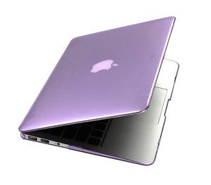 Case Star ® Party Purple crystal Case / Cover SET for New 11.6-inch A1370 Apple MacBook Air with Case Star Velvet Bag