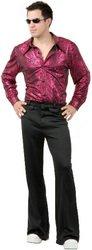 Disco Shirt - Liquid Red & Black Adult Costume | (Medium) PROD-ID : 1441582 (Disco Shirt Liquid Red & Black Adult)