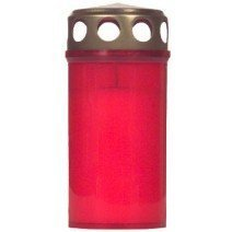 TEXTIMO 10 Pcs Burner Lid Days/Cemetery Candle (Nr. 3/Red )