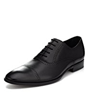 Sartorial Leather Toe Cap Lace Up Brogue Shoes
