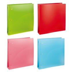 "Office Depot® Brand Two-Tone Binder, 1"" Ring, 8 1/2"" x 11"", Assorted Colors"