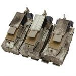 Triple Kangaroo Magazine Pouch holds (3) M4/M16 Mag, (3) Pistol Mag - Color: A-TACS