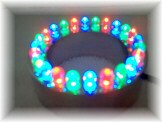 24 RGB Color Changing LED Submersible Fountain Ring