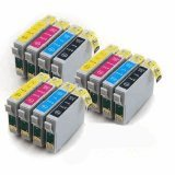12 X T0715 Compatible Printer Ink Cartridges - Black/Cyan/Magenta/Yellow - Multipack for Epson Stylus Office BX300F