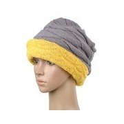 TOPCYCLING TOP011 Winter Double-Sided Wear Knit Wool Street Dance / Hip-Hop Warm Hat - Ginger + Grey Ginger Free Size