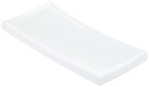 Kitchen Supply 8073 White Porcelain Sushi Plate, 9.5 Inch By 4.25 Inch