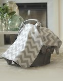 Chevy Grey and White Baby Infant Carseat Cover Canopy