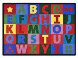 "Joy Carpets Kid Essentials Early Childhood Oversize Alphabet Rug, Multicolored, 5'4"" x 7'8"""