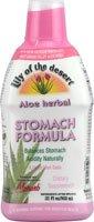 Lily Of The Desert Organic Aloe Vera Gel Herbal Stomach Formula 32 Oz