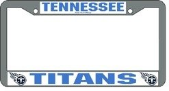 Tennessee Titans Chrome License Plate Frame by Hall of Fame Memorabilia