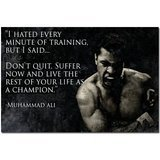 "Don't Quit Motivational Quotes Muhammad Ali Art Poster 20""*24"""