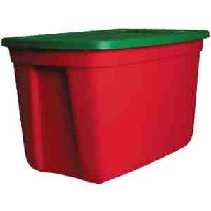 CENTREX PLASTICS 30 GAL. BASIC RED/GREEN TOTE (30 Gal Plastic Storage Containers compare prices)